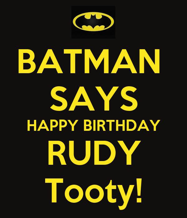 Happy Birthday Rudy Cake
