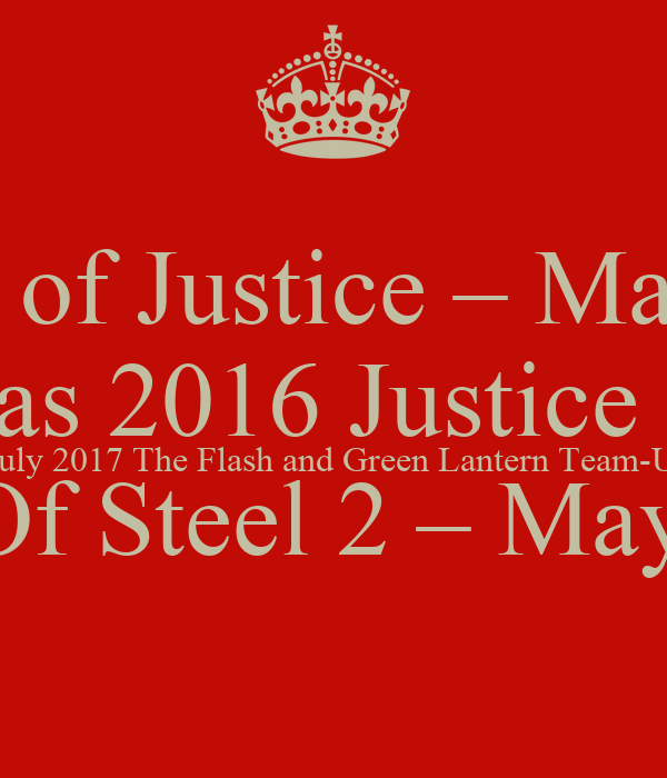 Batman V Superman: Dawn Of Justice U2013 May 2016 Shazam U2013 July 2016 Sandman U2013