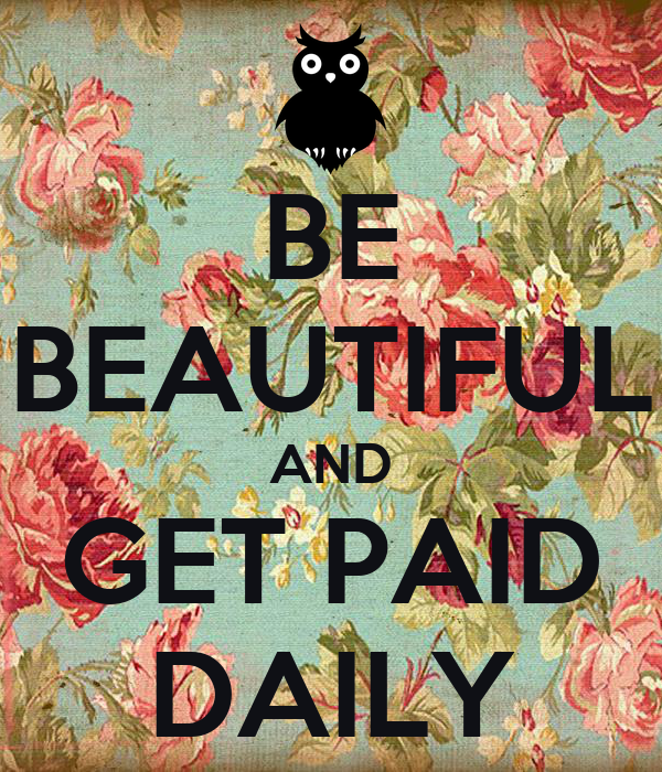 keep calm and get paid