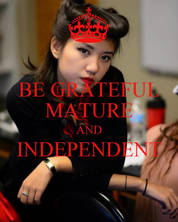 Independent mature uk