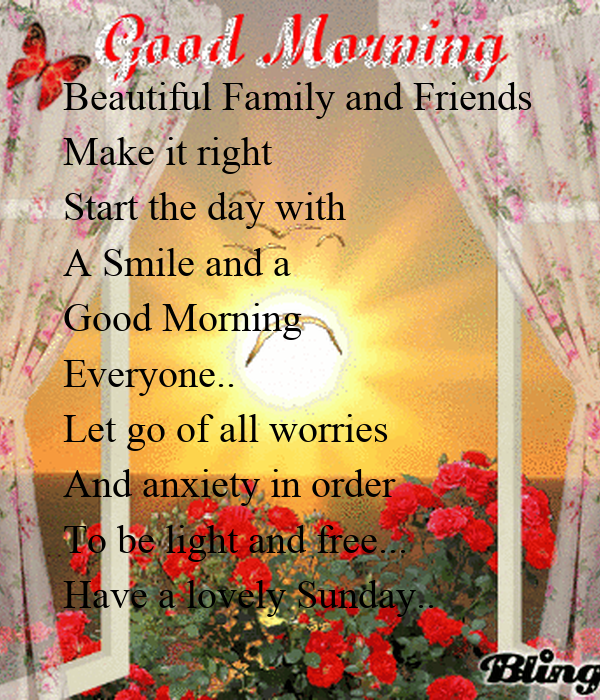 Good Morning Everyone Move On Acoustic : Beautiful family and friends make it right start the day