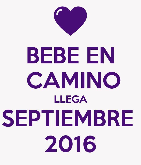 Bebe en camino llega septiembre 2016 poster luixiana - Bebe en camino ...