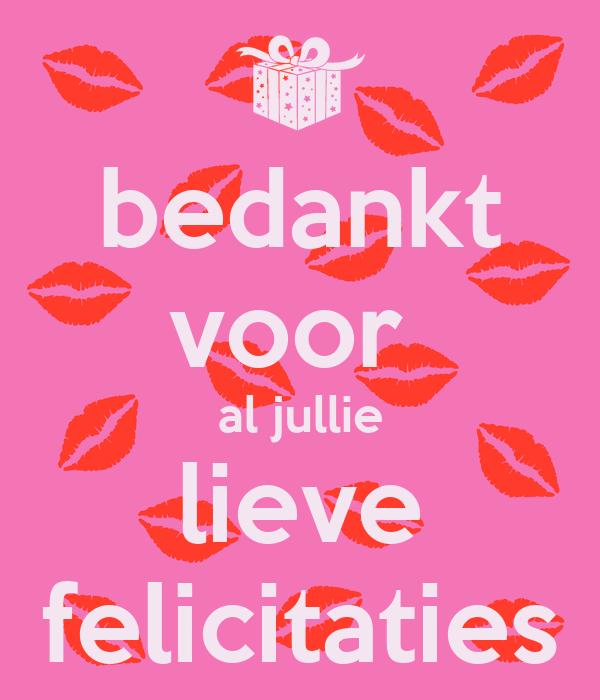 Bedankt voor al jullie lieve felicitaties poster loo