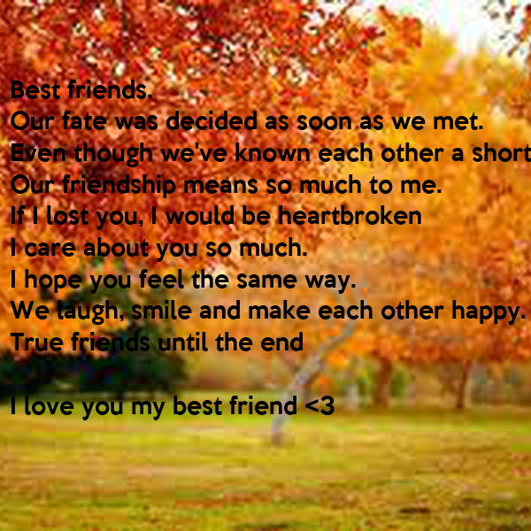 short paragraph on what friendship means to me