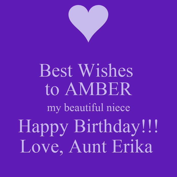 Best Wishes To AMBER My Beautiful Niece Happy Birthday