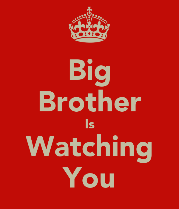Big Brother Is Watching You   KEEP CALM AND CARRY ON Image Generator