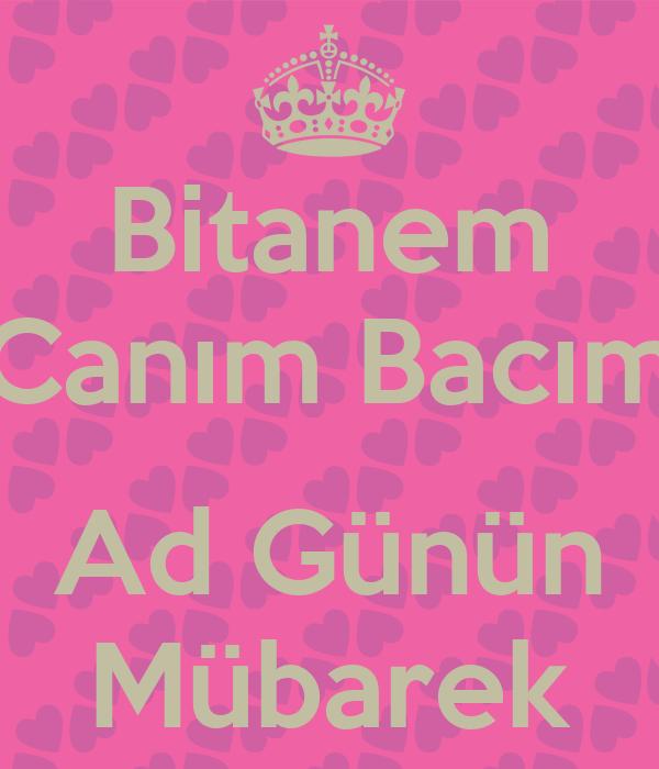 Bitanem Canim Bacim Ad Gunun Mubarek Poster Lamiye Keep Calm O