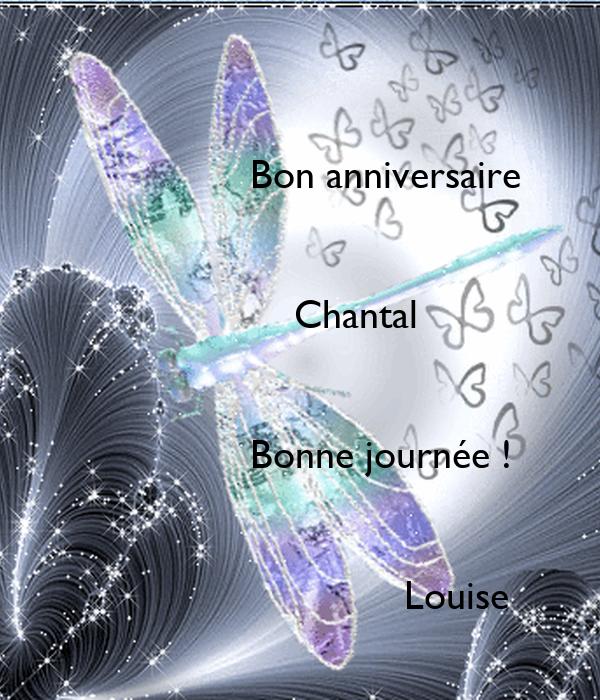 Bon Anniversaire Chantal Poster Louise Keep Calm O Matic