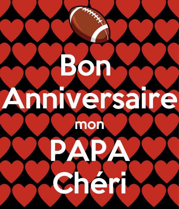 Bon Anniversaire Mon Papa Chéri Poster Aurorebeuschaert