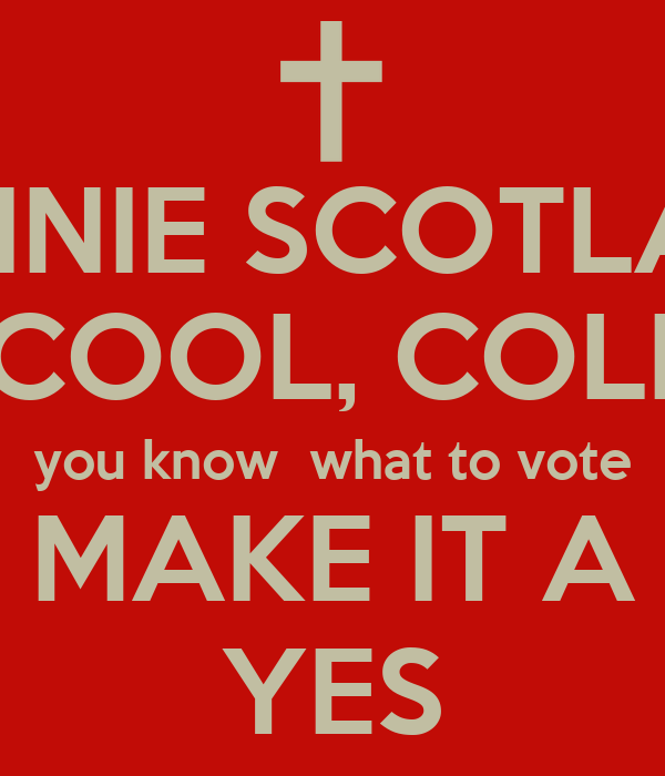 bonnie scotland calm cool collected you know what to