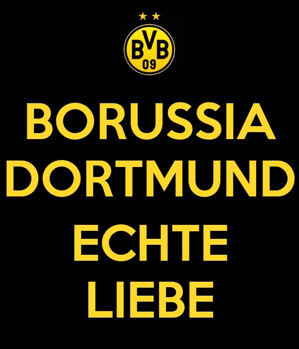 Borussia Dortmund Echte Liebe Poster Tyfe Keep Calm O Matic
