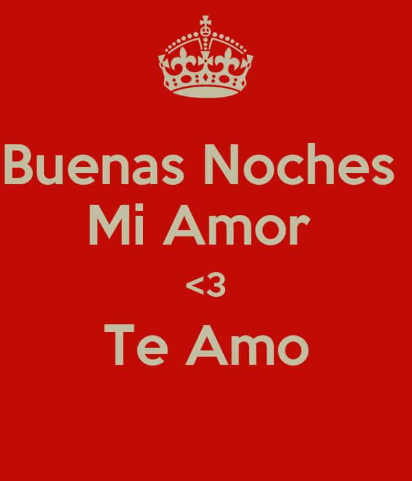 Buenas Noches Mi Amor 3 Te Amo Poster Alexandra Keep Calm O Matic