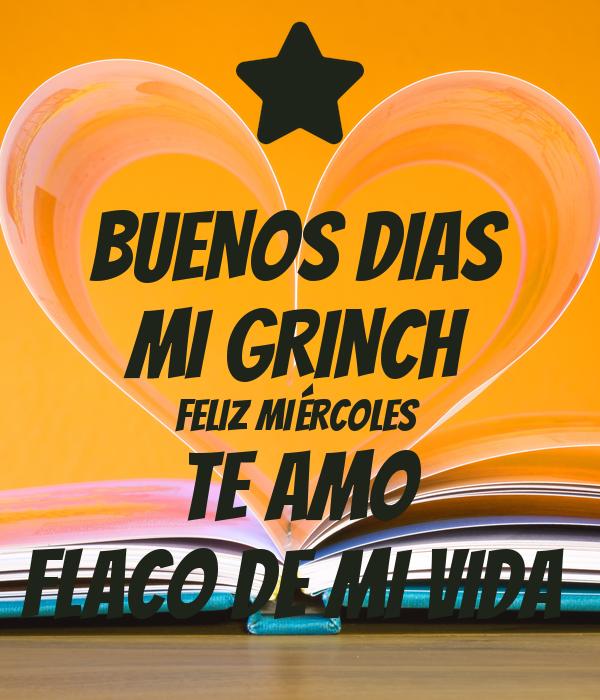 Imagenes De Grinch De Buenos Dias.Buenos Dias Mi Grinch Feliz Miercoles Te Amo Flaco De Mi