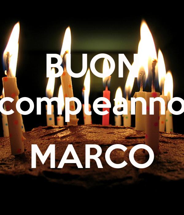 Buon Compleanno Marco Poster Christophergianoglio Keep Calm O Matic