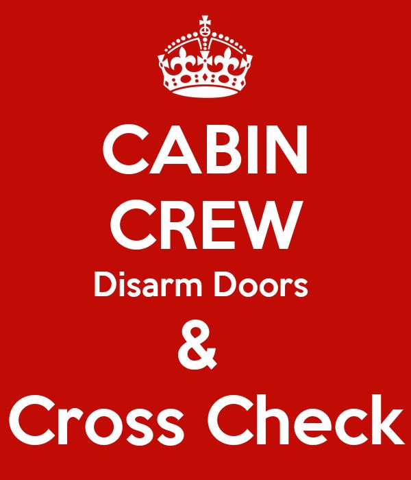 Cabin Crew Disarm Doors Cross Check Poster Aus1 Keep