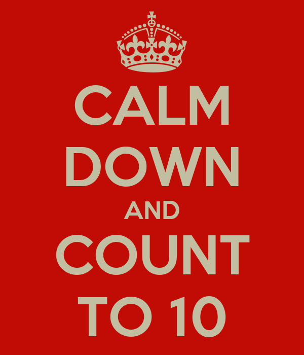 Image result for counting to 10 to calm down