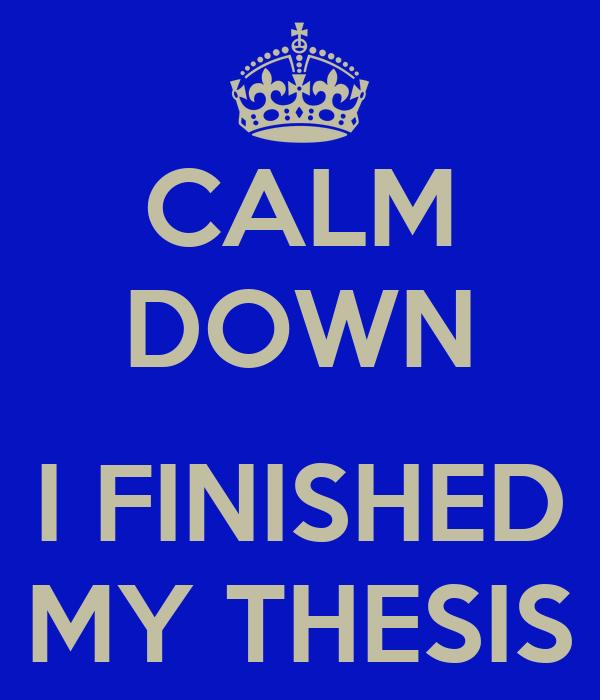 finish my dissertation