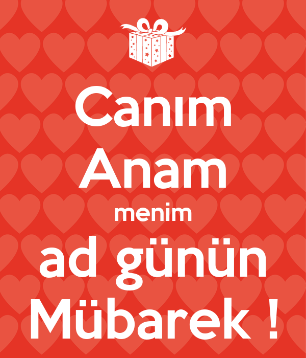 Canim Anam Menim Ad Gunun Mubarek Poster Jalə Keep Calm O Matic