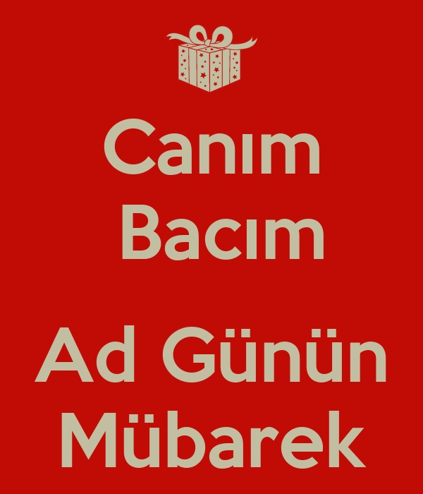 Canim Bacim Ad Gunun Mubarek Poster Lamiye Keep Calm O Matic