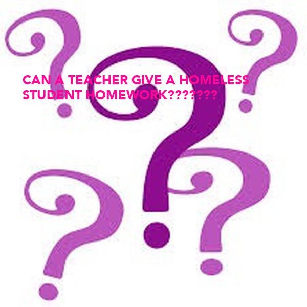 Give homework teacher why