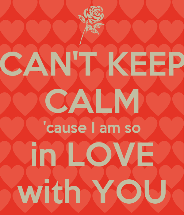 Cant Keep Calm Cause I Am So In Love With You Poster Sf Keep