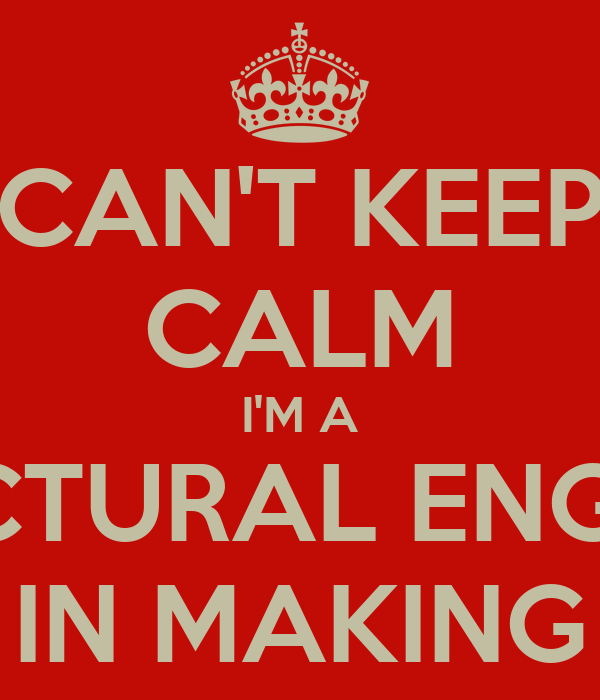 Can 39 T Keep Calm I 39 M A Structural Engineer In Making Poster