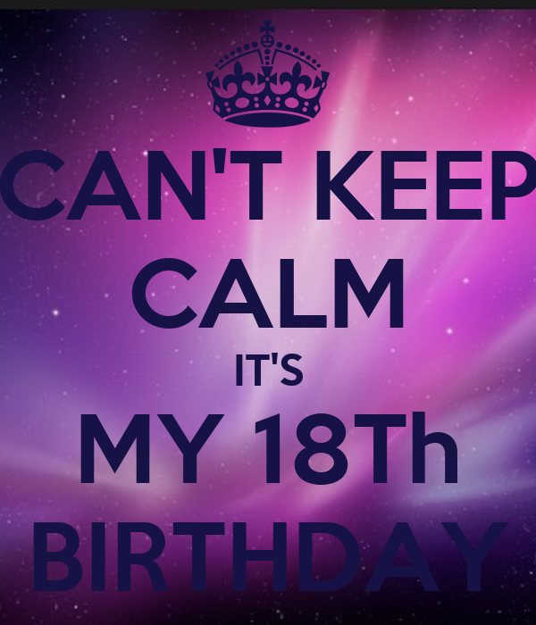 CAN'T KEEP CALM IT'S MY 18Th BIRTHDAY Poster