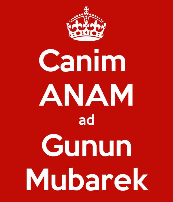 Canim Anam Ad Gunun Mubarek Poster Sahile Keep Calm O Matic