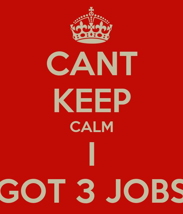 i Got 3 Jobs Cant Keep Calm i Got 3 Jobs