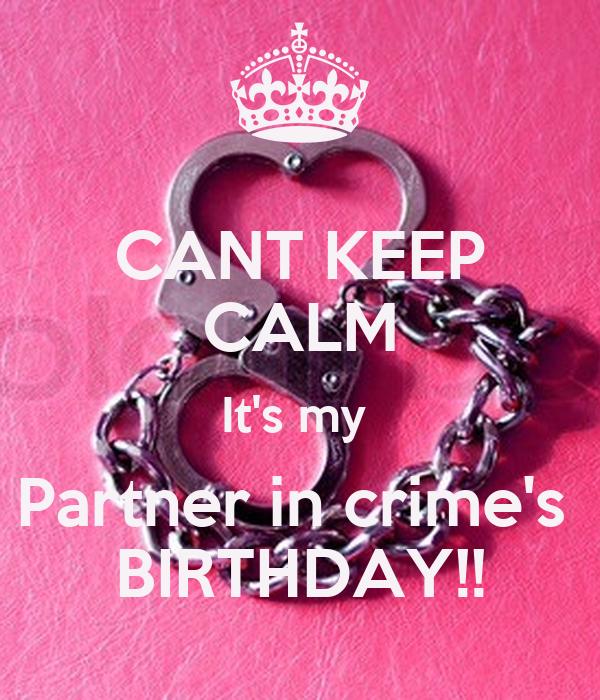 Partner In Crime Birthday Cake