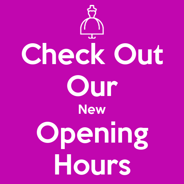 Check Out Our New Opening Hours Poster