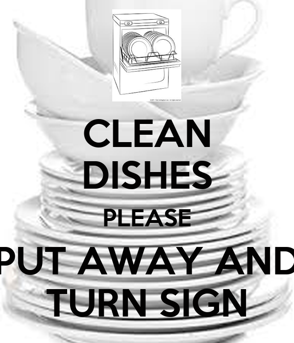clean dishes sign - photo #12