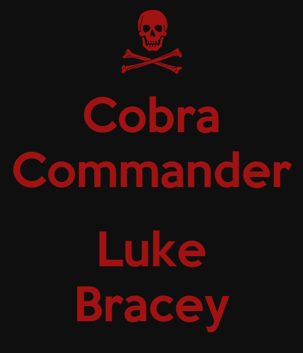 Cobra Commander Luke Bracey Poster Alvaro Keep Calm O Matic