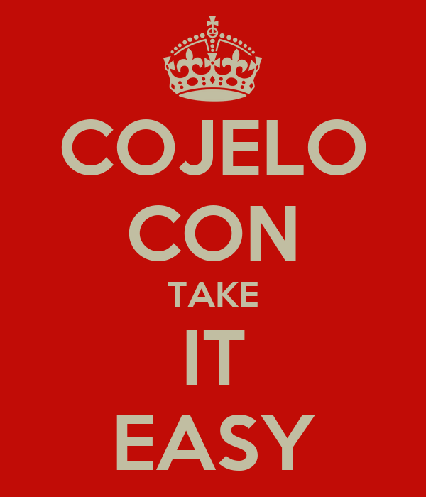 cojelo con take it easy poster lance keep calm o matic. Black Bedroom Furniture Sets. Home Design Ideas