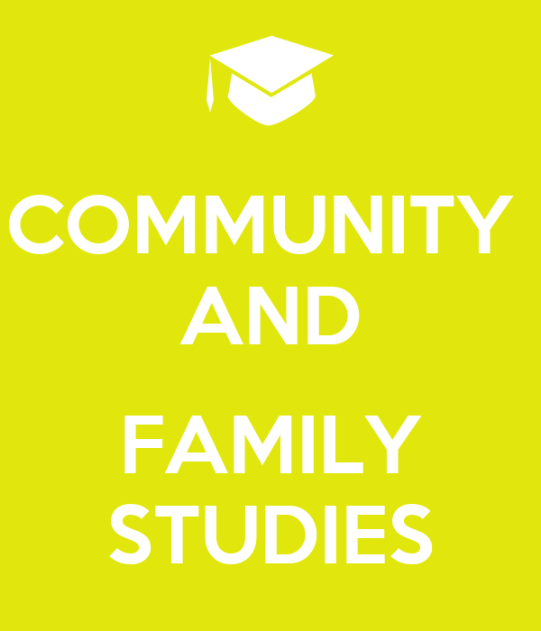 COMMUNITY AND FAMILY STUDIES Poster | T | Keep Calm-o-Matic