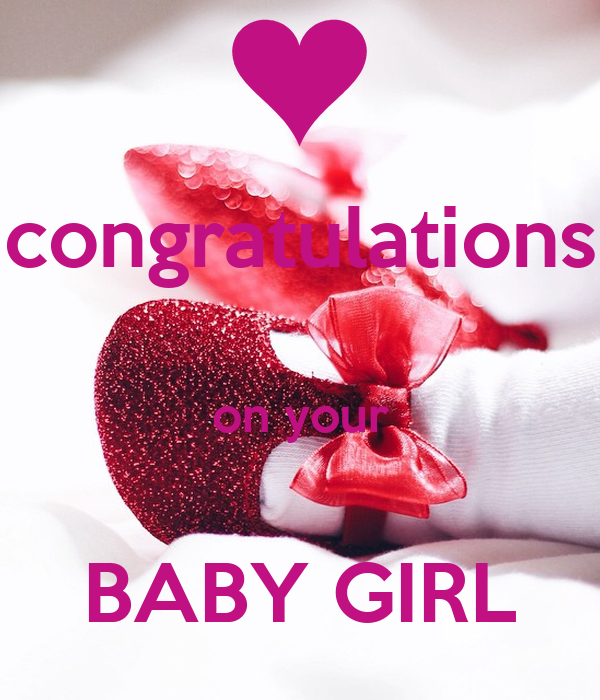 congratulations on your BABY GIRL Poster | omnia | Keep ...