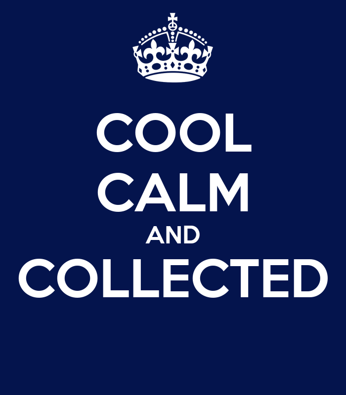 cool calm and collected poster tobi keep calm o matic