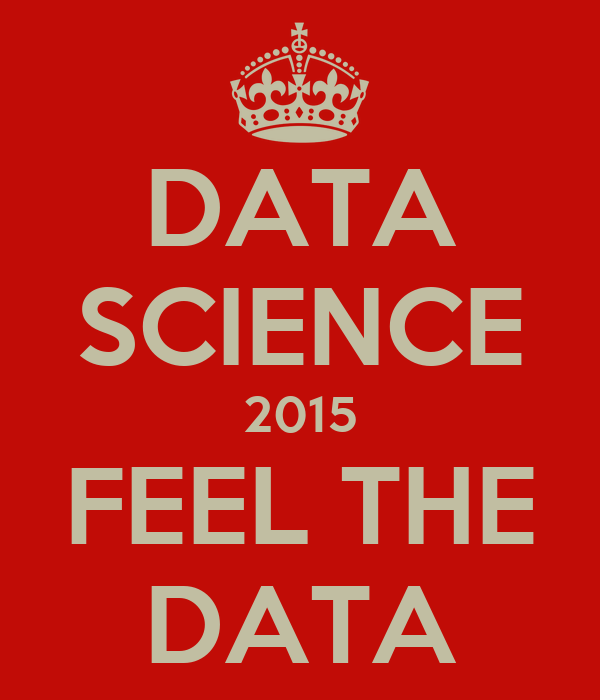 Science Data Data Science 2015 Feel The