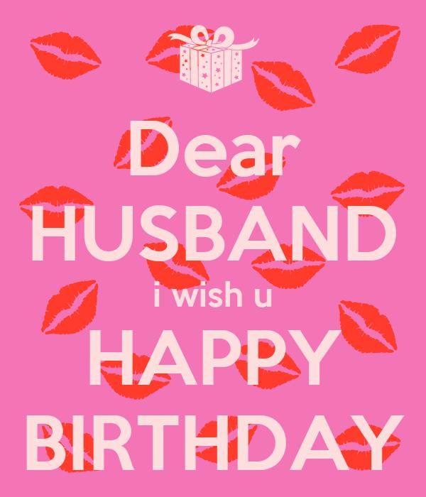 Dear HUSBAND I Wish U HAPPY BIRTHDAY Poster