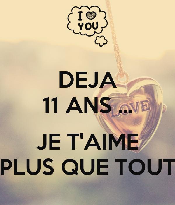 Deja 11 Ans Je Taime Plus Que Tout Poster Challenge
