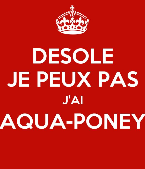 desole je peux pas j 39 ai aqua poney poster berlingot keep calm o matic. Black Bedroom Furniture Sets. Home Design Ideas