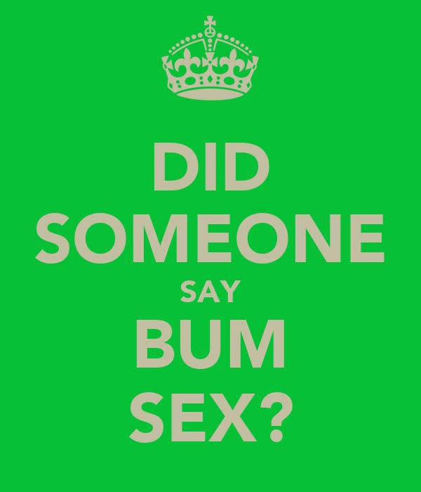 bum+sex