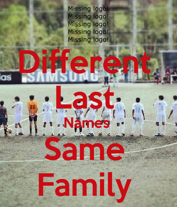 Different Last Names Same Family