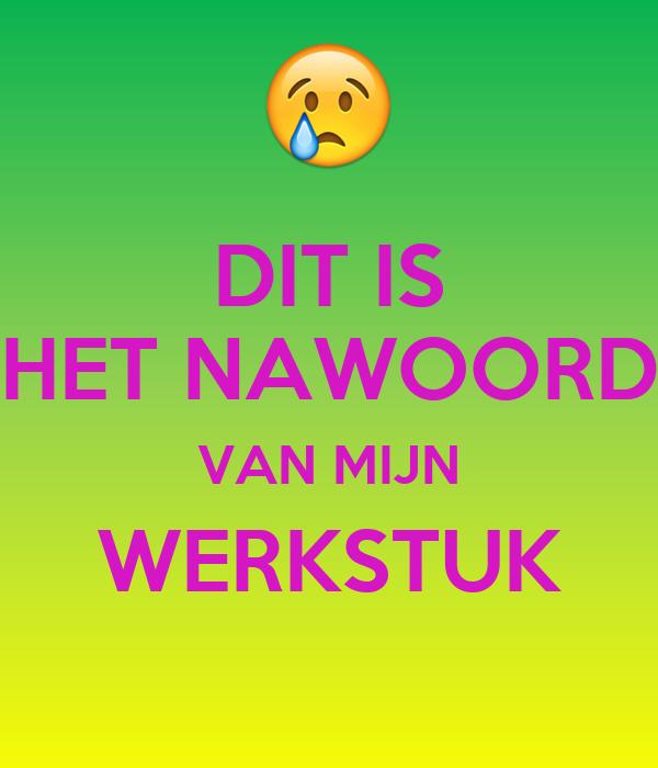 Travel Van For Sale >> DIT IS HET NAWOORD VAN MIJN WERKSTUK Poster | ilse | Keep ...