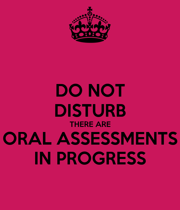 Oral Assessments 9