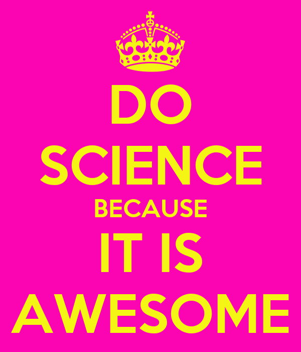DO SCIENCE BECAUSE IT IS AWESOME Poster