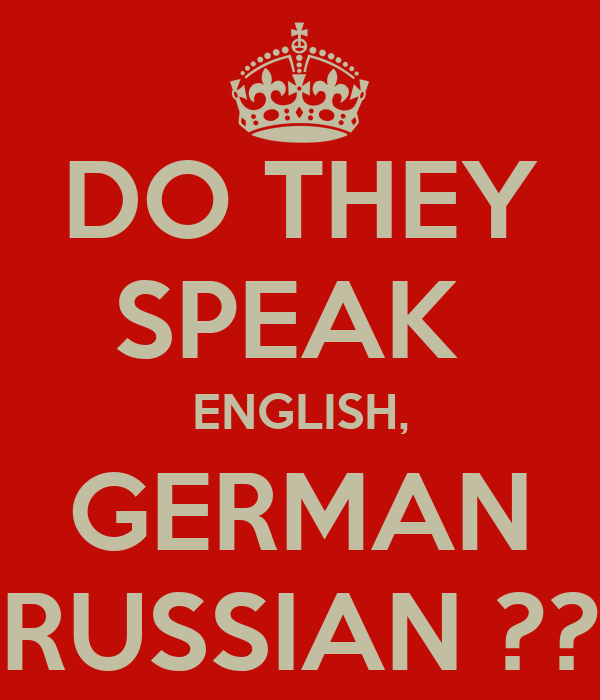 Do They Speak English German Russian Poster Claire Keep Calm O Matic