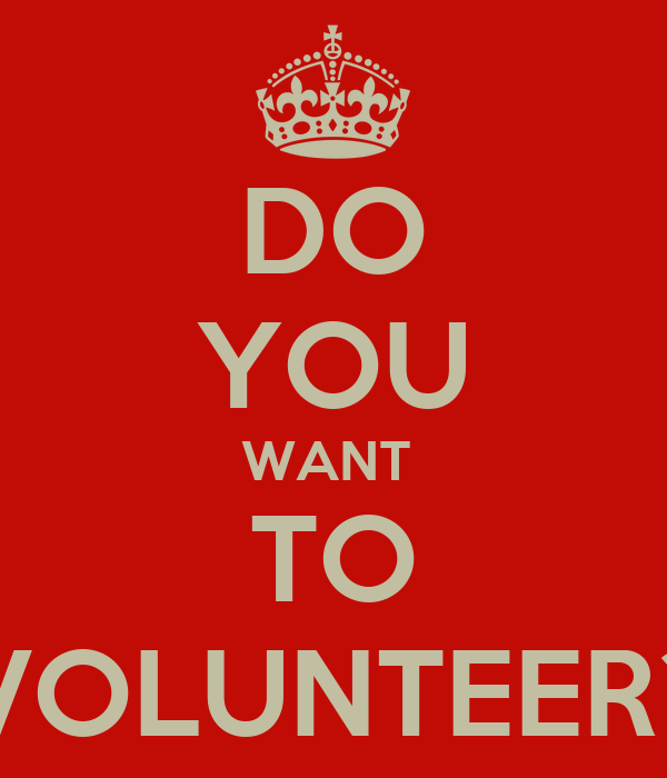 i want you to volunteer - photo #3