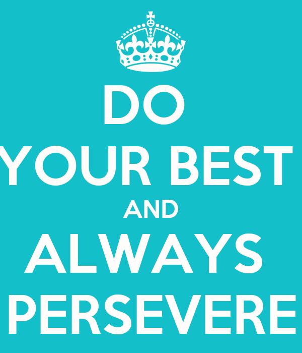 always do your best essay