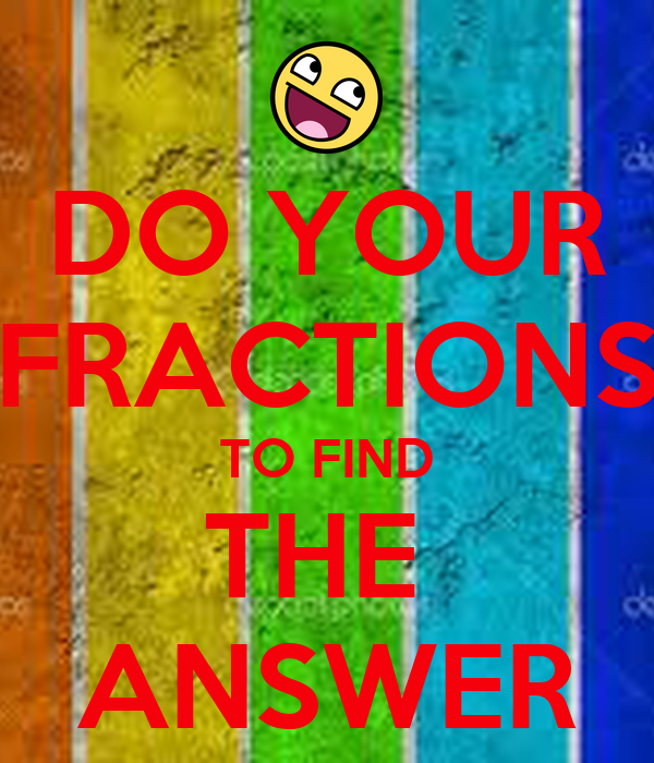 how to find distance with fractions